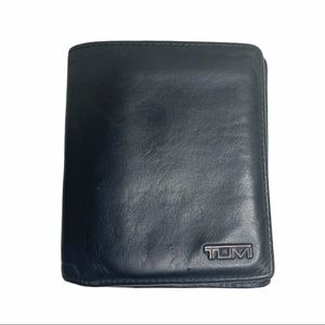 Tumi Ultra Slim Black Leather Wallet